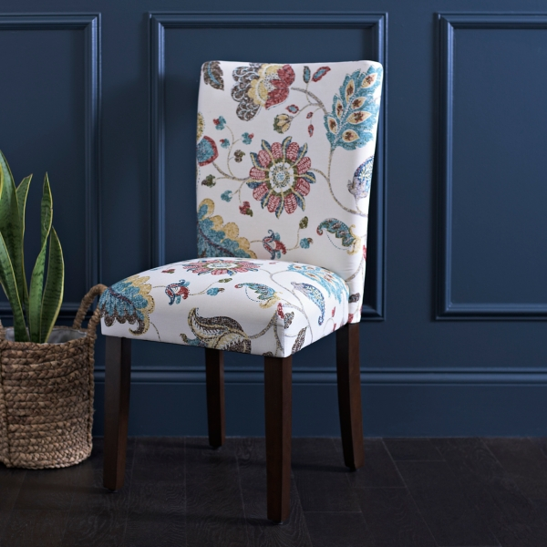 Spring Poppy Parsons Chair