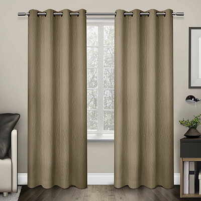 Tan Crete Curtain Panel Set, 84 in.