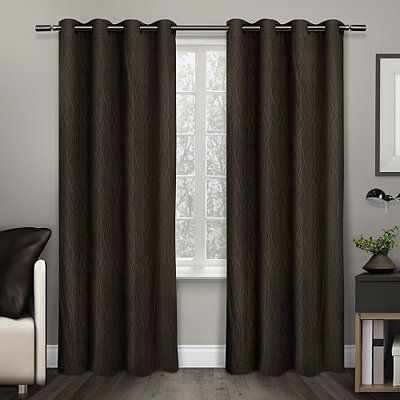 Chocolate Crete Curtain Panel Set, 84 in.