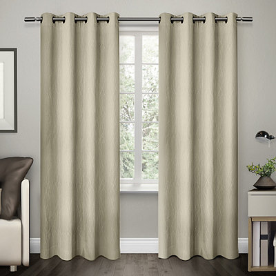 Cream Crete Curtain Panel Set, 84 in.