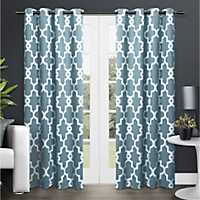 Teal Maxwell Blackout Curtain Panel Set, 84 in.
