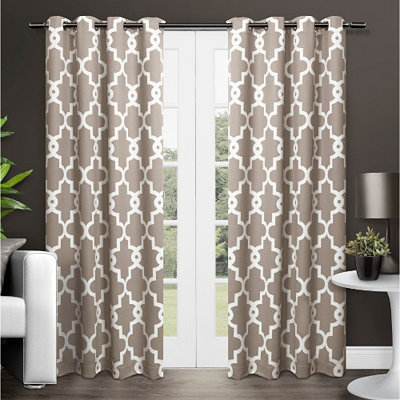 Taupe Maxwell Blackout Curtain Panel Set, 84 in.