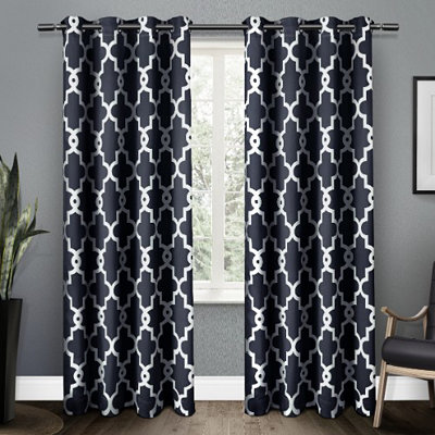 Navy Maxwell Blackout Curtain Panel Set, 84 in.