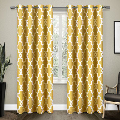 Yellow Maxwell Blackout Curtain Panel Set, 84 in.