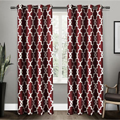 Red Maxwell Blackout Curtain Panel Set, 84 in.