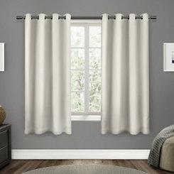 Vanilla Sateen Curtain Panel Set, 63 in.