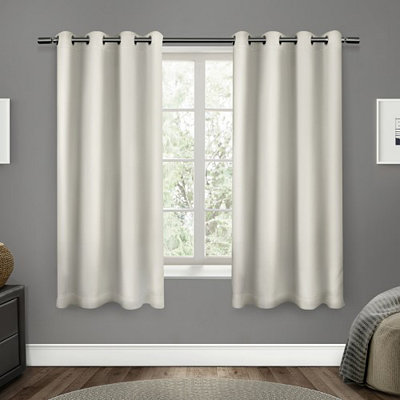 Vanilla Sateen Curtain Panel Set, 63 in.