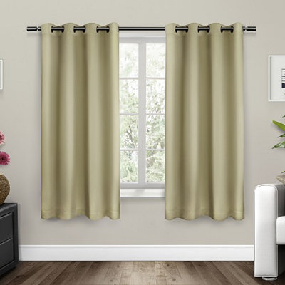 Linen Sateen Curtain Panel Set, 63 in.