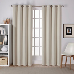 Linen Sateen Curtain Panel Set, 84 in.