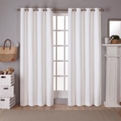 Vanilla Sateen Curtain Panel Set, 96 in.