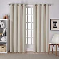 Linen Sateen Curtain Panel Set, 96 in.