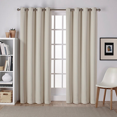 Linen Sateen Curtain Panel Set, 96 in.