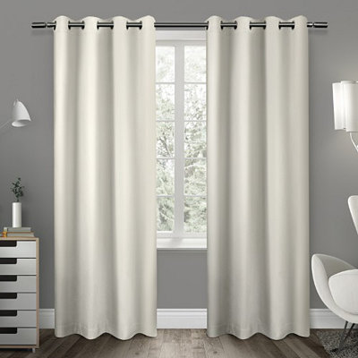 Vanilla Sateen Curtain Panel Set, 108 in.