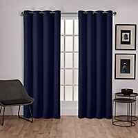 Navy Sateen Curtain Panel Set, 108 in.