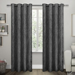 Black Twigs Blackout Curtain Panel Set, 84 in.