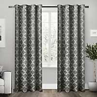 Gray Cartago Blackout Curtain Panel Set, 84 in.