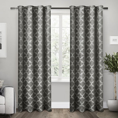 Black Cartago Blackout Curtain Panel Set, 84 in.