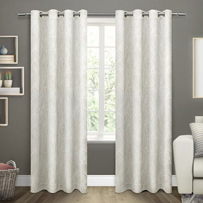 Ivory Twigs Blackout Curtain Panel Set, 96 in.
