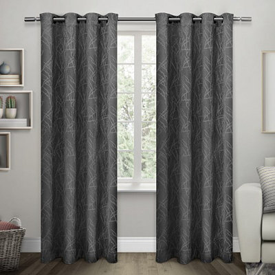 Black Twigs Blackout Curtain Panel Set, 96 in.