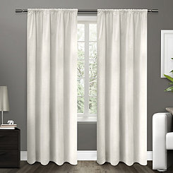 White Blackout Curtain Panel, 84 in.