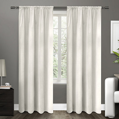 White Blackout Curtain Panel Set, 84 in.