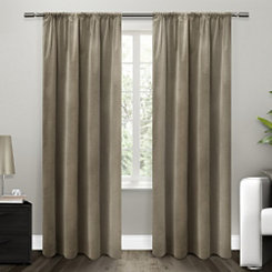 Tan Blackout Curtain Panel, 84 in.