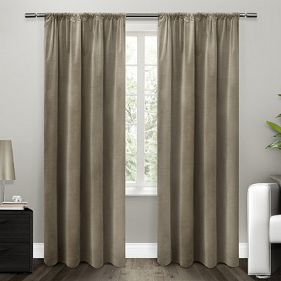 Tan Blackout Curtain Panel Set, 84 in.