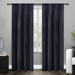 Blue Blackout Curtain Panel, 84 in.