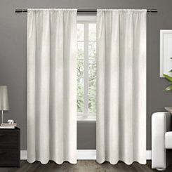 White Blackout Curtain Panel, 96 in.