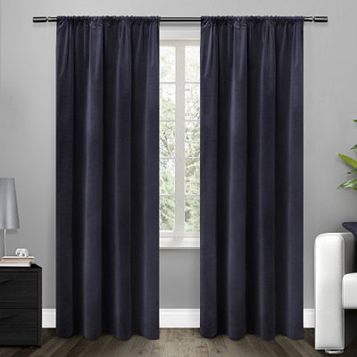 Blue Blackout Curtain Panel Set, 96 in.