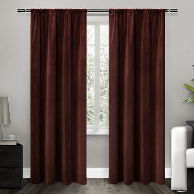 Red Blackout Curtain Panel Set, 96 in.