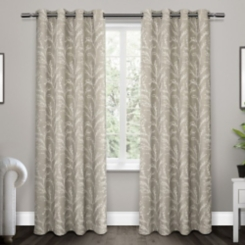 Dove Gray Kilberry Woven Curtain Panel Set, 84 in.