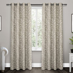 Dove Gray Kilberry Woven Curtain Panel Set, 96 in.