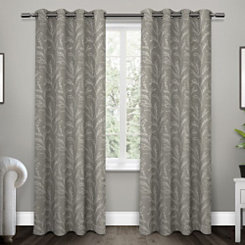 Ash Gray Kilberry Woven Curtain Panel Set, 108 in.