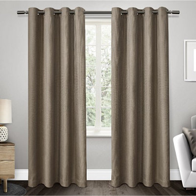 Tan Elington Blackout Curtain Panel Set, 84 in.