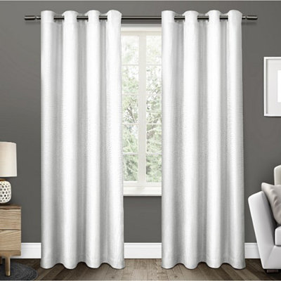 White Elington Blackout Curtain Panel Set, 96 in.