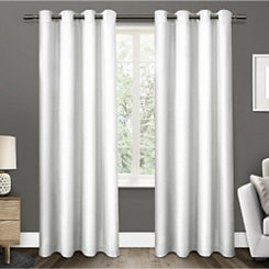 White Elington Curtain Panel Set, 108 in.