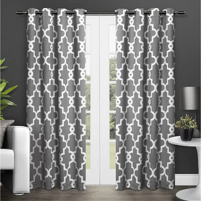Gray Maxwell Blackout Curtain Panel Set, 96 in.