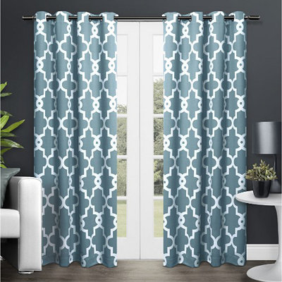 Teal Maxwell Blackout Curtain Panel Set, 96 in.