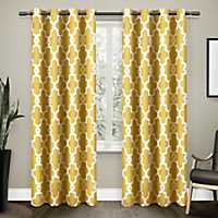 Yellow Maxwell Blackout Curtain Panel Set, 96 in.