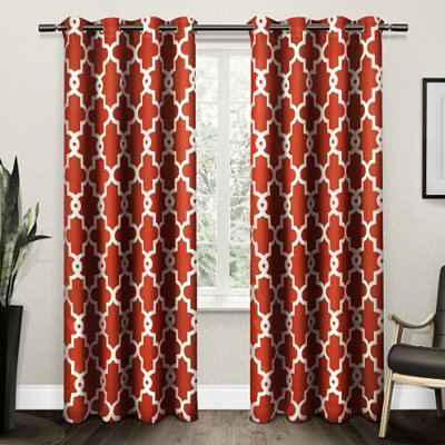 Orange Maxwell Blackout Curtain Panel Set, 96 in.