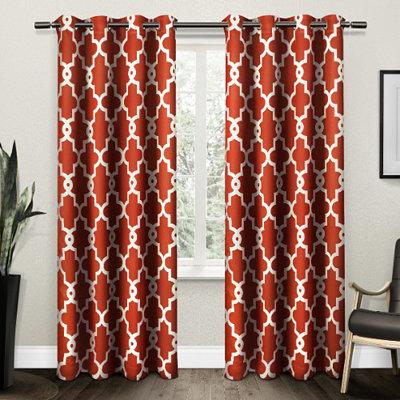 Orange Maxwell Blackout Curtain Panel Set, 96 in.