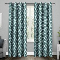 Teal Gates Blackout Curtain Panel Set, 84 in.