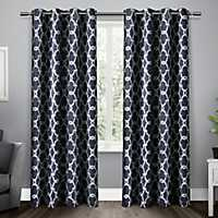 Navy Gates Blackout Curtain Panel Set, 84 in.