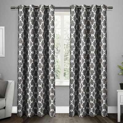 Gray Gates Blackout Curtain Panel Set, 96 in.
