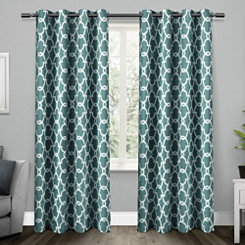 Teal Gates Blackout Curtain Panel Set, 96 in.