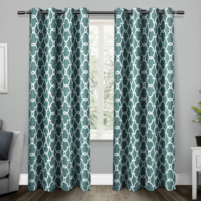 Teal Gates Blackout Curtain Panel Set, 96 in.