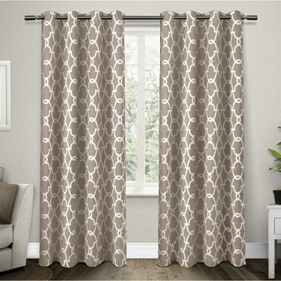 Taupe Gates Blackout Curtain Panel Set, 96 in.