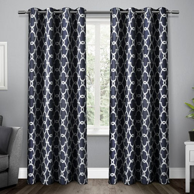 Navy Gates Blackout Curtain Panel Set, 96 in.