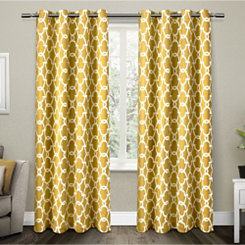 Yellow Gates Blackout Curtain Panel Set, 96 in.